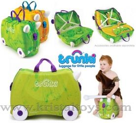 Trunki - Детски куфар 3 в 1 Ride-on DELUXE Rex Limited Edition