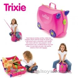 Trunki - Детски куфар 3 в 1 Ride-on DELUXE Pink