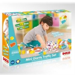DOLU Детски конструктор с пътни знаци Mini Giants 56 части